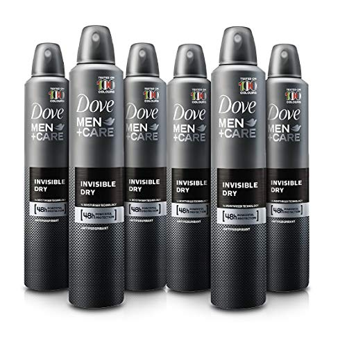 6 Cans of Dove Men+Care Invisible Dry 150ml Anti-Perspirant Anti-Transpirant Spray