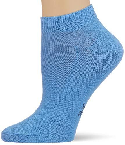 FALKE Women's Family Ankle Socks, Blue (Sky Blue 6534), 6/8