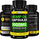 Hemp Oil Capsules - 1000 MG of Pure Hemp Extract - Pain, Stress