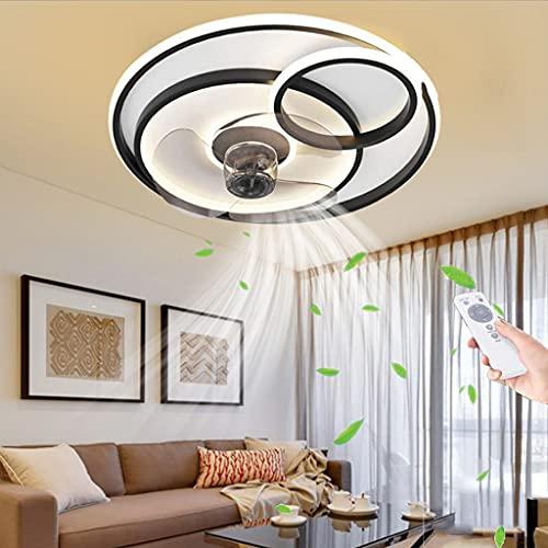 Ventilador de techo iluminación control remoto regulable moderno Temporización luz de techo 55W dormitorio silencioso Lámpara Comedor Sala de estar Habitación de los niños invisible Candelabro