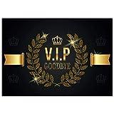 A4 XXL Abschiedskarte V.I.P. GOODBYE mit Umschlag - edle VIP Klappkarte für Kollegen zur Rente...