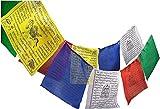 Valmoni Sport Banderas Tibetanas de Oración 15x16cm Rollo de 10 Mantras Positivos Bandera Tibet Paz Plegaria Lung Ta