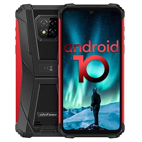 Écran 6,1 Pouces 4Go+64Go Octa-Core Telephone Portable 4G, Ulefone Armor 8 Smartphone Incassable Androud 10 5580 mAh IP68 / IP69K étanche Antichoc, Double SIM Débloqués Smartphone GPS OTG NFC (Rouge)