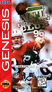 NFL Quarterback Club 96 Sega Genesis Instruction Booklet (SEGA GENESIS MANUAL ONLY - NO GAME) Pamphlet - NO GAME INCLUDED