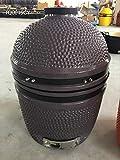 YNNI KAMADO TQ0015GY - Kamado autoportante, da 39,9 cm, colore: grigio, per barbecue, in ceramica, uovo, affumicatore, TQ0015GY