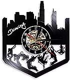 Reloj de pared con disco de vinilo retro Tango Dancing Home...