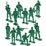 """GIFTEXPRESS 12 pcs 5"""" Green Army Action Figures, US Army Men Military Soldier Set, Soldiers Toy Figures, Military Figure Collection"""