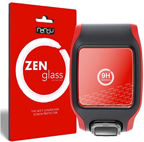 ZenGlass Flexible Glas-Folie kompatibel mit Tomtom GPS Sportuhr Multisport Cardio Panzerfolie I Display-Schutzfolie 9H I (Kleiner Als Das Gewölbte Display)