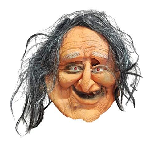 Tytlmask Halloween-masker voor volwassenen, heren, volledige kop latex, ornament, echt haar, masker met haar, voor Halloween