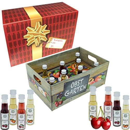 Obstgarten · Witzige Geschenkidee für Männer und Frauen mit Alkohol · 8 x Obst-Likör · Hochwertige Geschenkbox - Limitierte Edition