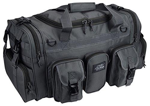 Nexpak Mens Gray 22 in Duffel Molle Tactical Shoulder Strap Travel Bag with Key Ring Carabiner