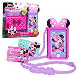 Minnie Mouse Disney Junior Chat with Me Cell Phone Set, Lights and Realistic Sounds, Includes Strap to Wear Like a Purse, by Just Play
