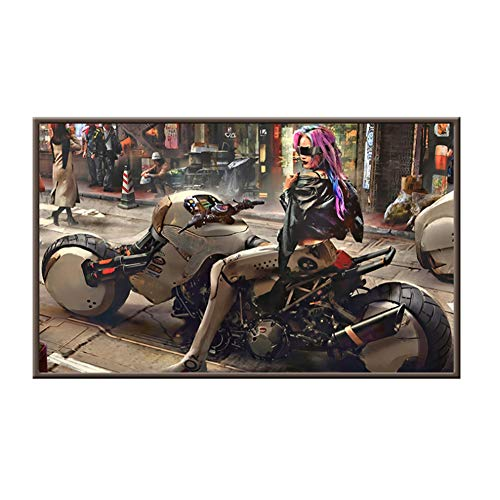 Cyberpunk Art Poster und Drucke Wandkunst Leinwand Malerei Kong City Nachtszene Dekorative Bilder für WohnzimmerDecor -60x90cmx1pcs - No Frame