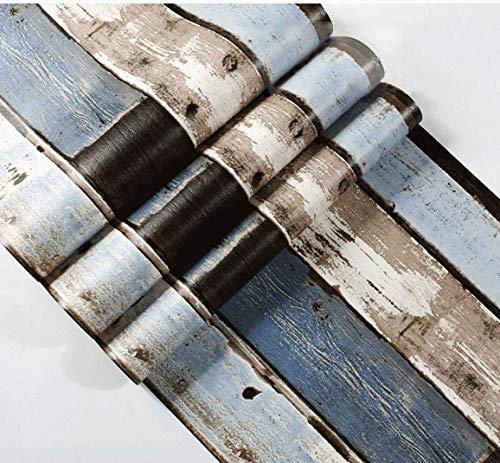 ACCEY Wand Holzplanke 3d Holz Nordic Papers Wohnkultur Vintage Jean Blue Loft Papel Wandbilder für Wohnzimmer Shop Wände Vinilo Madera@98005_5.3㎡
