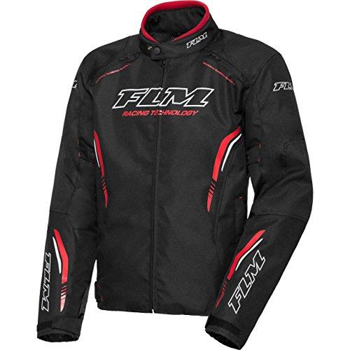 FLM Motorradjacke mit Protektoren Motorrad Jacke Sports Textiljacke 6.0 schwarz XXL, Herren, Sportler, Sommer