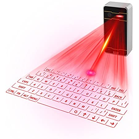 Zeerkeers Mini Teclado Virtual Bluetooth Inalámbrico ...
