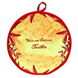Mona43Henry Auténtica bolsa de calentador de soporte de tortilla de tela mexicana, horno de microondas aislado Tortillera Mexicana seguro para maíz, harina, taco, burrito, quesadilla, pan