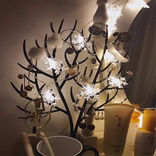 Lichterkette 1,5 M 10 LED Schneeflocke Lichter String Weihnachtsbeleuchtung Schneeflocken Lichternetz Schnur Beleuchtet Partei Hochzeits Lichterketten Weihnachten Party AußEn Innen