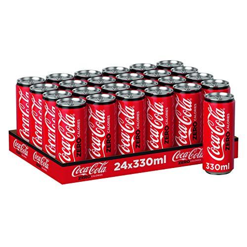 Coca Cola Zero, 24er Pack (24 x 330 ml) (ohne Pfand, Lieferung nur nach Österreich)