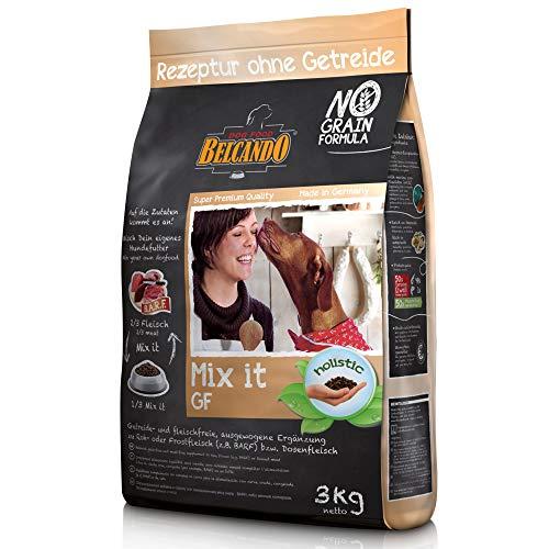 Belcando Mix It GF [3 kg] Ergänzungsfutter   Trockenfutter für Hunde zur Ergänzung bei Fleischfütterung & Barf   Ergänzungsfutter für Hunde