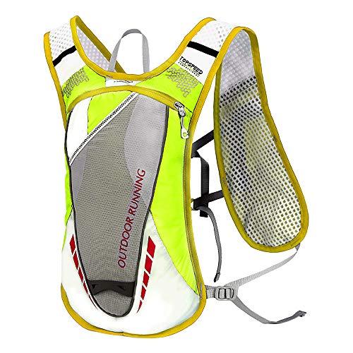 Lixada 5L Mochila con Paquete de hidratación con 2L Bolsa de Agua(Opcional), Chaleco de hidratación Transpirable Ultraligero para Correr al Aire Libre