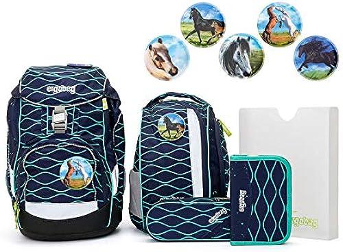 Ergobag Pack TraumzauB Schulrucksack Set 6tlg. Pferde Kletties