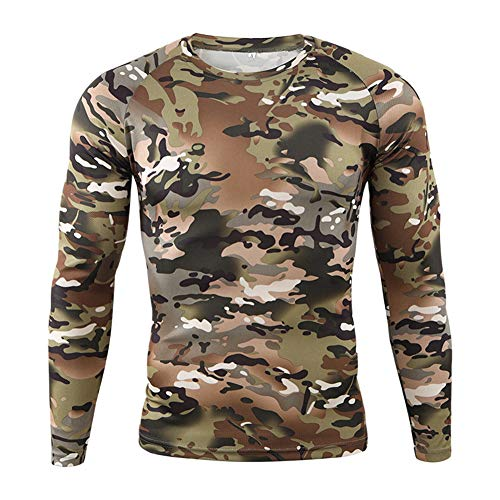 Hombre Militar Táctica Camisa,Ejercito Camuflaje BDU...