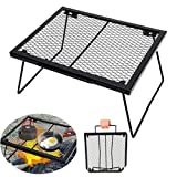Portable Folding Campfire Grill Heavy Duty Steel <span class='highlight'>Grate</span> Grill Outdoor Camping Grill <span class='highlight'>BBQ</span> Grill Rack Compact,for Backpacking,Hiking,Picnics,Fishing