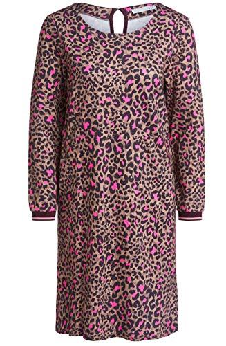 Oui Kleid mit Leoparden-Muster Camel (0783 dkcamel red) 38