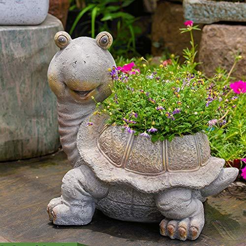 NYKK Home Accessories Garden Decoration Courtyard Creative Outdoor Decoration Garden Decoration Animal Flower Pot Resin Turtle Decoration Decorative Accessories/Sculptures