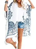 Dokotoo Womens Fashion Print Kimono Tassel Casual...