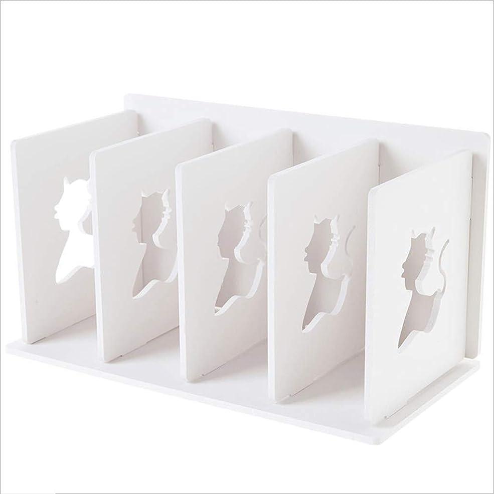 衝撃アテンダントカーペットRMJAI リビングルーム ブックスタンドデスクトップ棚多層ファイル収納ラックフロア収納ラックホワイト30.5 x 16 x 17 cm 家庭やオフィスに最適