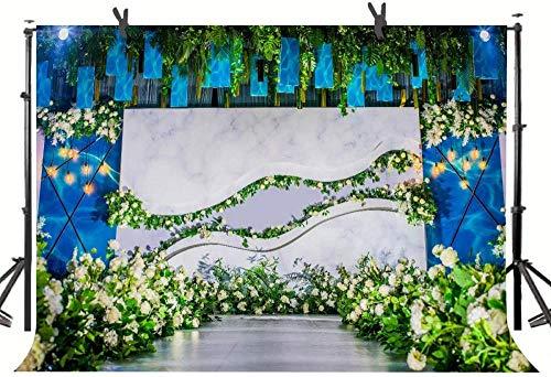 Zhy 250×180cm Photography Backdrop Wedding Ceremony Engagement Party Bride Shower Background Marriage Celebration Beautiful Flower Pergola Dessert Table Photo Studio Props Vinyl 919