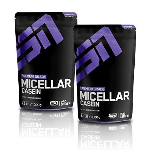 ESN Micellar Casein 2 x 1000g Beutel - Geschmack: Vanilla + Vanilla = 2 Kg