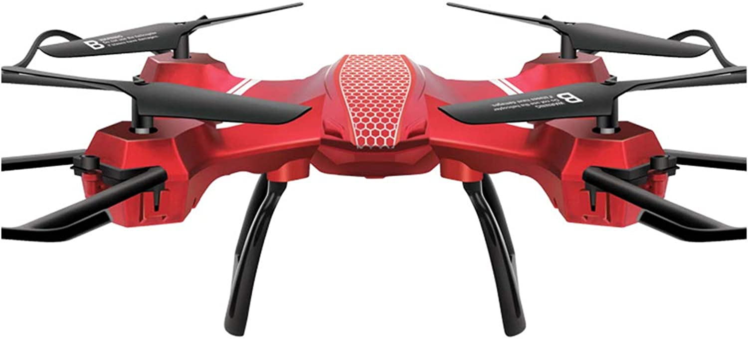 Drone Quadcopter Selfie Onekey Return With Helicopter Best Choice for Kids and Beginners Red