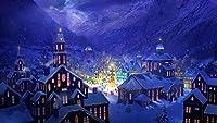 雪山クリエイティブの下で大人の活気のある家のためのHYTFDNLK500ピースパズル