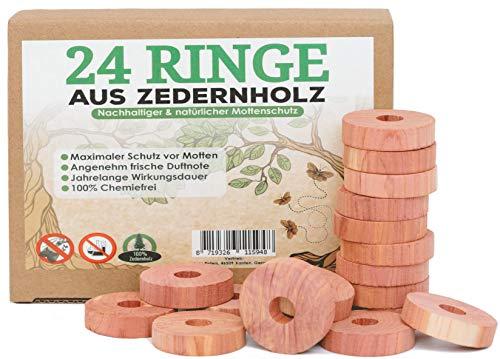 toolable 24x Protección antipolillas de Madera de Cedro para Armario y Perchas, incl. Papel de Lija GRATUITO sin Productos químicos, 100% Natural