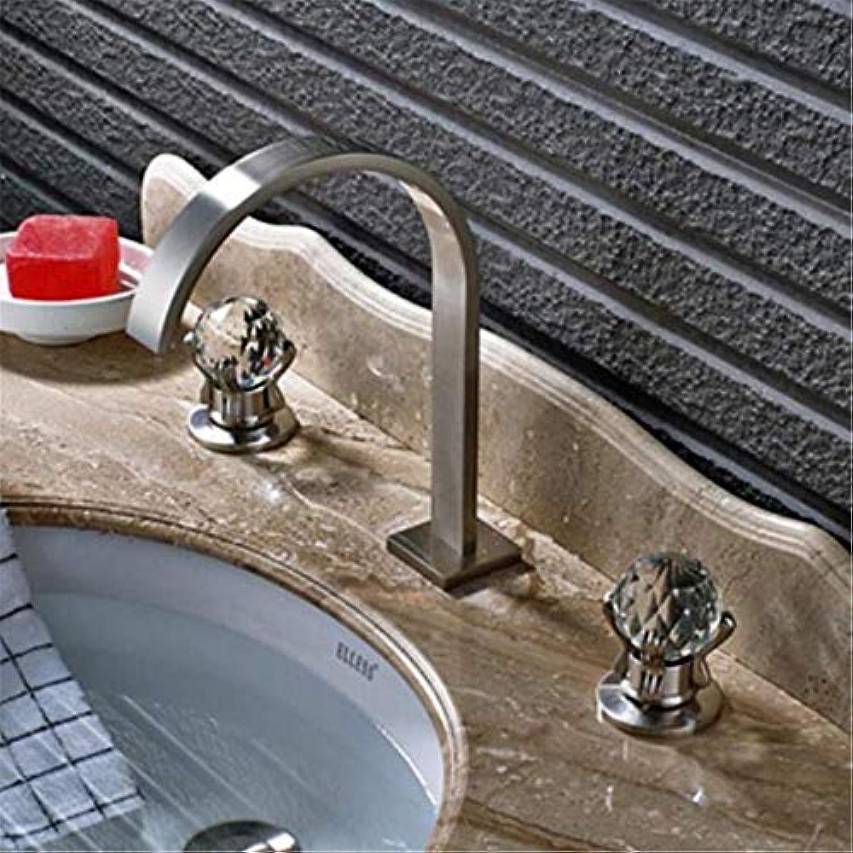 Messing Chrome Warmes Und Kaltes Wasserhahn Waschbecken Neuen Stil Waschbecken Wasserhahn Verbreitet 3 Stücke Becken Mischbatterie