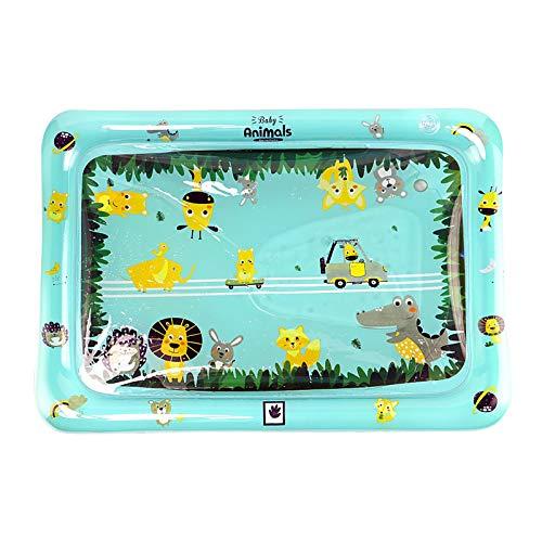 QIMANZI Wassermatte Baby,Baby Spielzeug Aufblasbare Bauchzeit Matte, Perfektes Sensorisches Spielzeug für Baby Frühe Entwicklung Aktivitätszentren