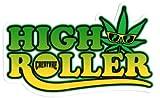 Creature Skateboard Aufkleber, 'High Roller', Cannabisblatt