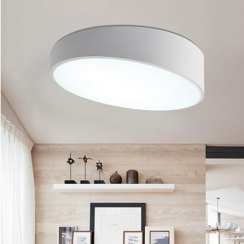 Mogicry 12W créatif rond blanc plafond plafonnier commercial Illumination commerciale fer LED éclairage ménage décoration acrylique lampe LED en verre simple moderne éclairage qui respecte l'environne