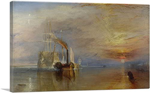 ARTCANVAS The Fighting Temeraire 1839 Canvas Art Print by J M W Turner 40 x 26 0 75 Deep product image