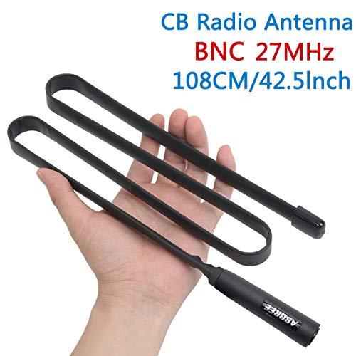ABBREE Antenna tattica 27 Mhz 42,5 Pollici per CB Palmare Radio Portatile con Connettore BNC Compatibile con Cobra Midland Uniden Anytone CB Radio