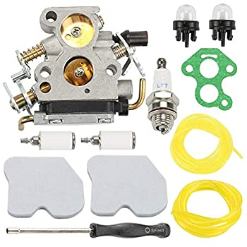Hayskill Carburetor with Air Filter Fuel Line Filter for Husqvarna 235 235E 236 236E 240 240E Chainsaw Jonsered CS2234 CS2238 CS2234S CS2238S Carb Replace 574719402 545072601