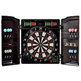 Best Sporting elektronische Dartscheibe Oxford Evolution LED Dartboard Kabinett mit 12 Dartpfeilen, Ersatzsspitzen und Netzteil