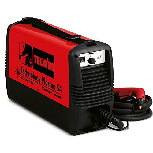 Telwin Technology plasma 54 plasmasnijder met geïntegreerde compressor, 230 V inverter-technologie, set incl. plasma slangpakket en massaaansluitgarnituur