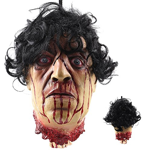 Halloween Prop Cut off Human Bloody Head