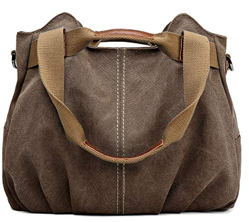 Eco-friendly casual life style. Made of durable 16 oz washed; canvas100% cotton canvas handbag; Durable and fashionable. Dual carrying handles and zip top closure. Back pocket for easy access. Roomy fully lined fabric compartment. Cell phone and Wall...