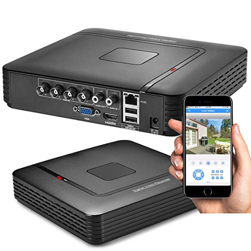 1080P 4CH Surveillance DVR Recorder H.264+ Standalone 5-in-1 CCTV Digital Video Recorder DVR for Security Camera Home Surveillance System, Mobile APP & PC Remote (No Hard Drive)