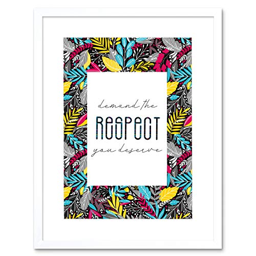 Wee Blue Coo Who Cares Scotland Quote Respect You Deserve Tartan Artwork Framed Wall Art Print 12X16 Inch